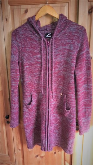 Maui Wowie Knitted Coat dark grey-pink mixture fibre