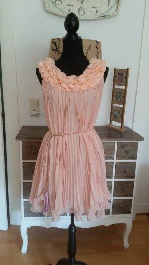 original Max Mara Couture Plisee Seidenmixkleid rosè