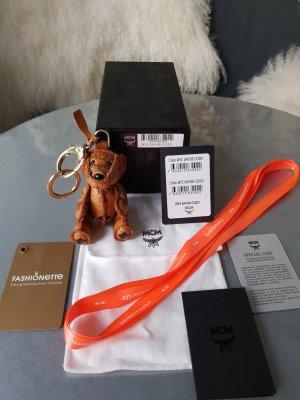 Original MCM Anhänger Bär cognac für Tasche mit Box Staubbeutel