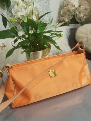 Original MCM Baguette Tasche orange NEU Michael Cromer
