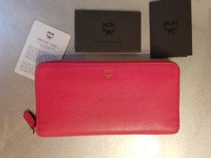 Original MCM Geldbörse pink & Zertifikate Geldbeutel Portemonnaie