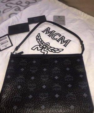 MCM Handtas zwart-grijs