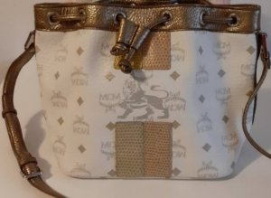 MCM Pouch Bag white-gold-colored