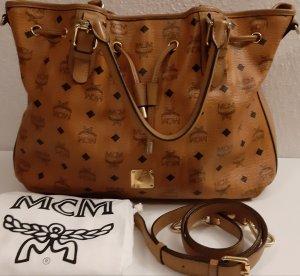MCM Handbag light brown-cognac-coloured