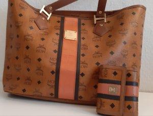 original mcm Handtasche shopper mit Portemonnaie