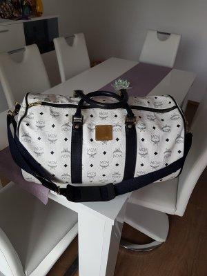 MCM Travel Bag white-dark blue
