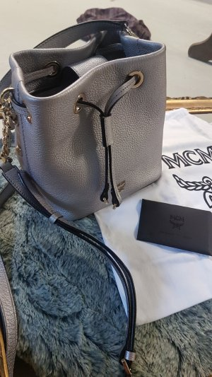 Original MCM Rosalind Bucket Bag in silber wie neu