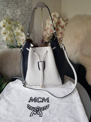 MCM Pouch Bag white-black
