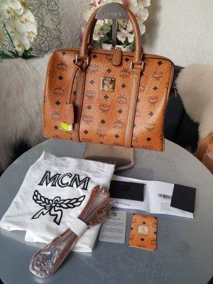 Original MCM Tasche Boston Bag cognac mit Rechnungskopie