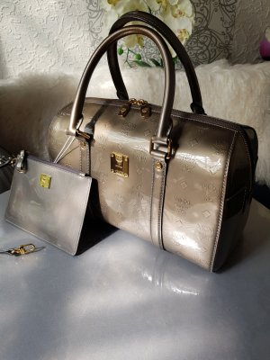 Original MCM Tasche Boston Bag Lackleder & Clutch