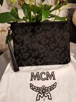 MCM Clutch black-silver-colored