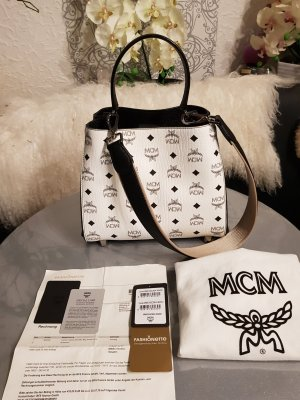MCM Crossbody bag white-black