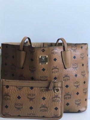 MCM Carry Bag cognac-coloured