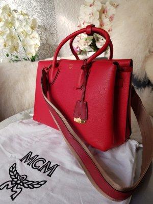 Original MCM Tasche Milla medium rot neuwertig & Rechnung