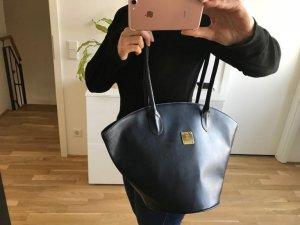 MCM Borsa shopper blu-blu scuro Finta pelle