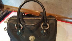 Original MCM Tasche Speedy,  STARS by Michael Cromer in schwarz