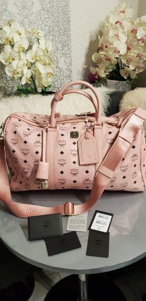 MCM Bolso de viaje rosa claro