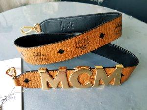 Original MCM Taschen Schultergurt cognac NEU mit Etikett Rechnung