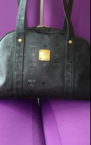 MCM Crossbody bag black mixture fibre