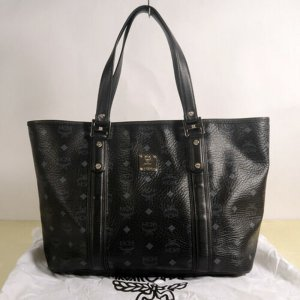 MCM Carry Bag black leather