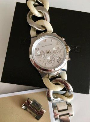 Michael Kors Orologio con cinturino di metallo argento-beige chiaro