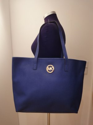 Original Michael Kors Big Shopper, Modell Jet Set, blitzblau, 47x33 cm