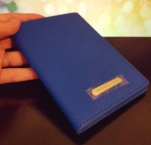 Original Michael Kors, blau/ silber Reisepasshülle, Etui, Passport Case, neu