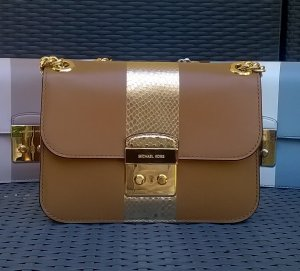 Original Michael Kors Center Stripe braun/gold