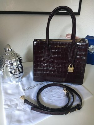 Original Michael Kors Crossbody Bag Bordeaux Kroko Optik Neuwertig