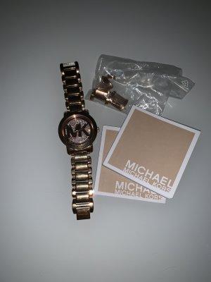 Michael Kors Reloj con pulsera metálica color rosa dorado-color plata