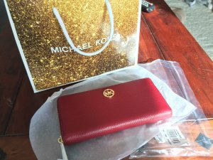 Michael Kors Wallet red-dark red leather