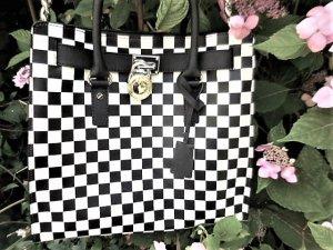 Original Michael Kors: grosse Tasche Schachbrett (glaube Hamilton) wie neu Saffiano Leder Blickfang NP ca. 450 Euro sehr selten genutzt darum in top Zustand