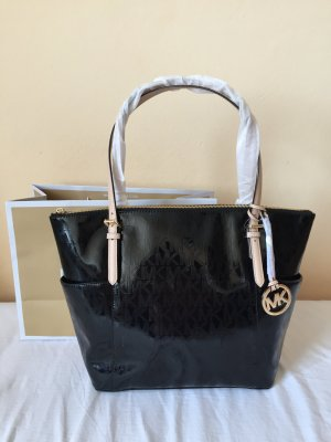 Original Michael Kors Jet Set Lackleder schwarz neu