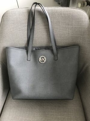 Michael Kors Shopper silver-colored leather