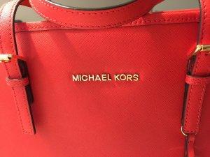 Original Michael Kors Jet Set Travel Tote Large red Echtleder mit Etikett neuw.