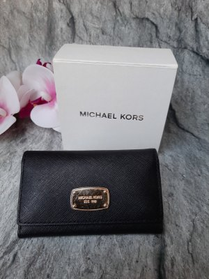 Tommy Hilfiger Key Case black-gold-colored leather
