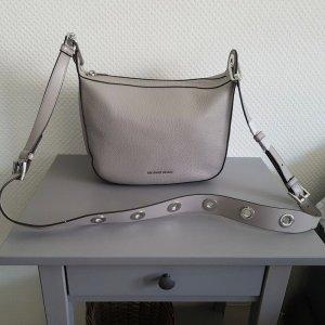 Original Michael Kors MK Barlow Handtasche in grauem Leder NEU mit Etikett