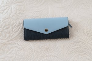 Michael Kors Wallet dark blue-neon blue