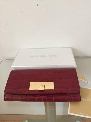 Original Michael Kors rote Leder Brieftasche.