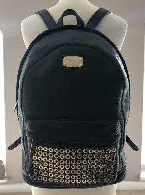Michael Kors Laptop Backpack black leather
