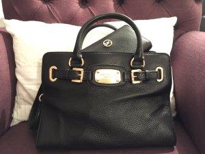 Original Michael Kors schwarze Leder Handtasche neuwertig