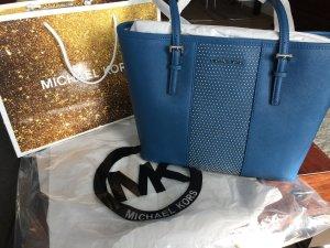 Michael Kors Handbag cornflower blue-steel blue leather