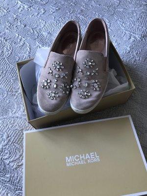 Original Michael Kors Sneaker Slip on Rose Glitzer 40