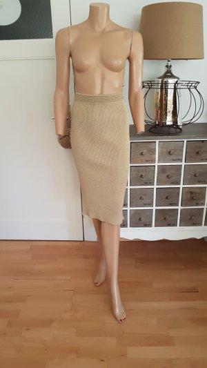 Michael Kors High Waist Skirt gold-colored