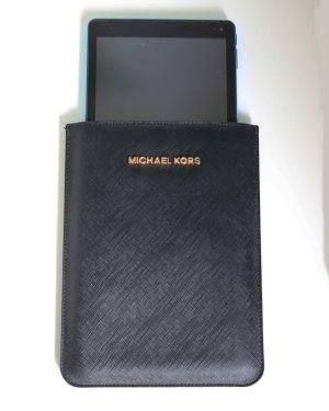 Michael Kors Hoesje voor mobiele telefoons zwart-goud Leer