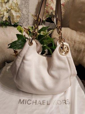 Michael Kors Gekruiste tas wit-goud