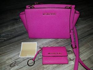 Original Michael Kors Tasche & Geldbörse SELMA pink