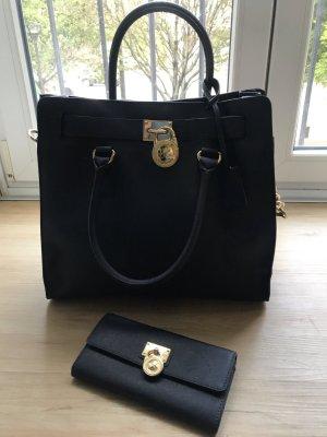 Original Michael Kors Tasche Marineblau-Gold