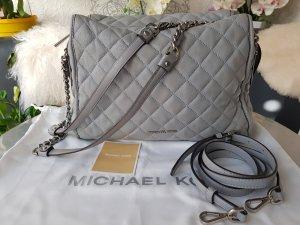 Original Michael Kors Tasche Rachel Dusty Blue silber Echtleder