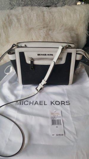 Original Michael Kors Tasche Selma NEU Etikett schwarz weiss